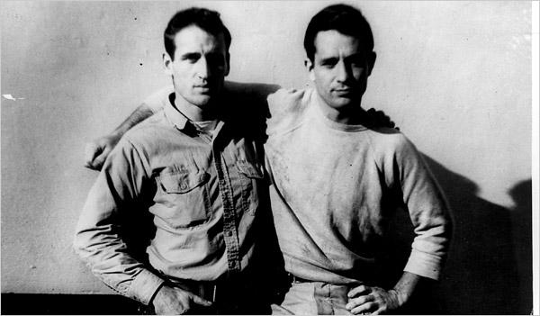 Jack Kerouac (right) and Neal Cassady (photo by Carolyn Cassady)