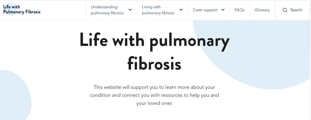 Life with Pulmonary Fibrosis web content